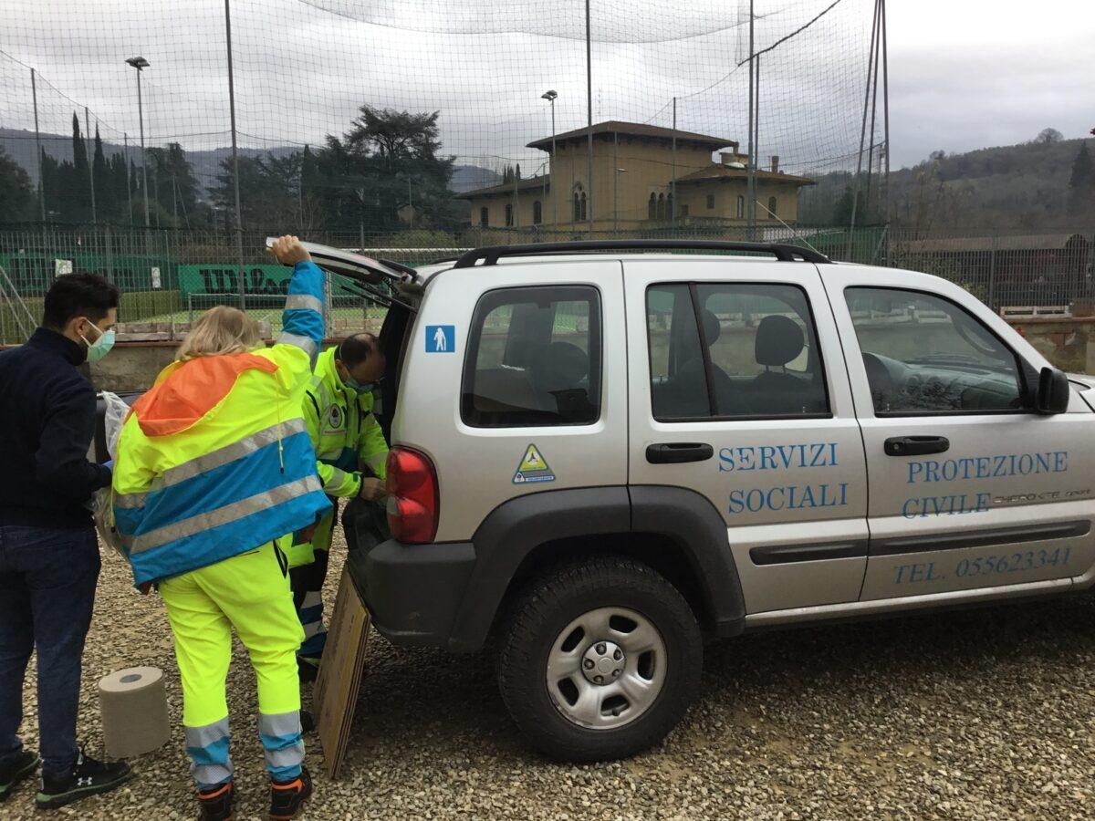 2 - Tamponi rapidi covid 19 scuola elementare parrocchia da parte Misericordia Antella - 14 gen 2021 - foto Giornalista Franco Mariani (7)
