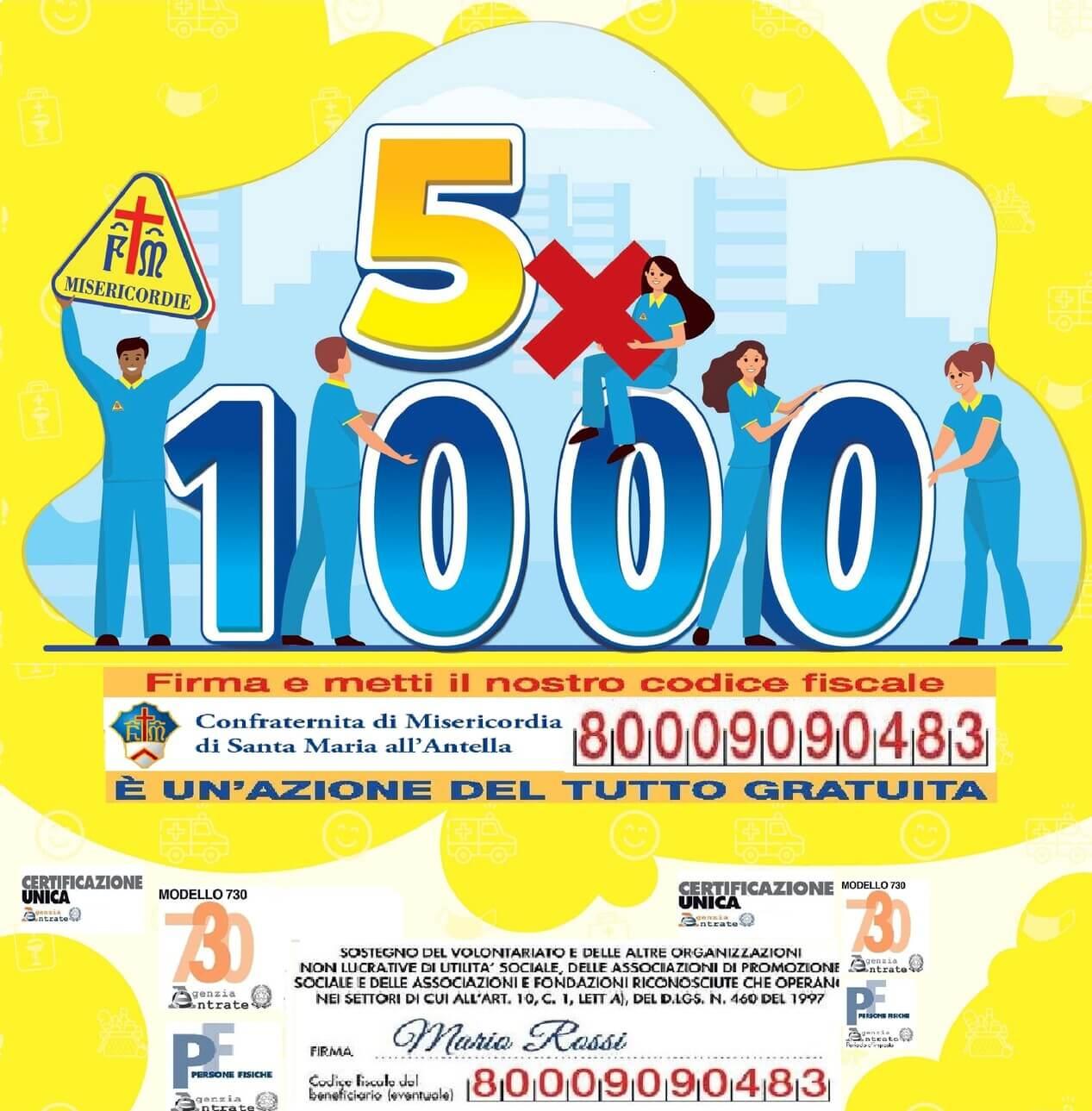 Locandina 5x1000 per campagna 2021