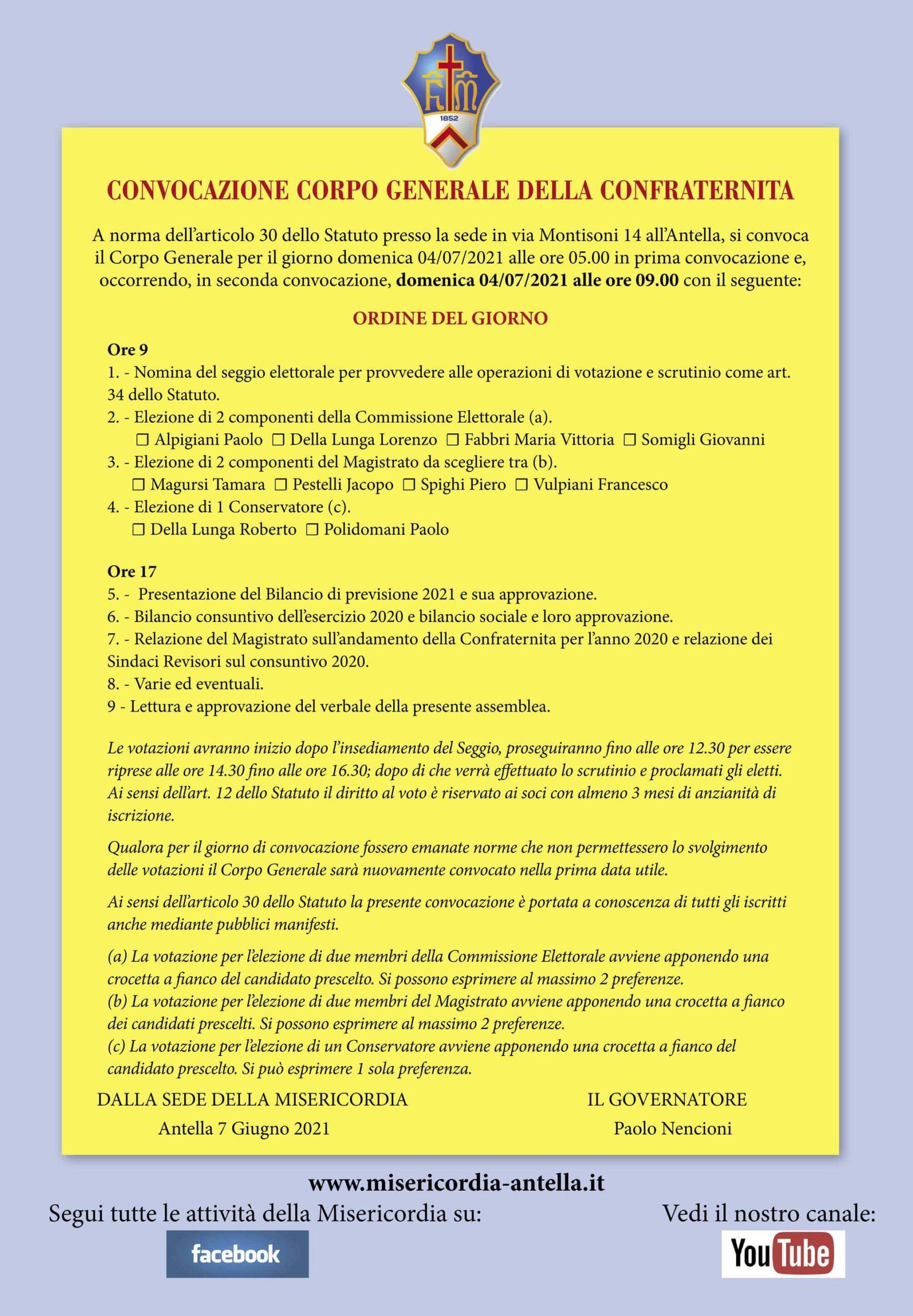 Convocazione Corpo Generale per web-page-001